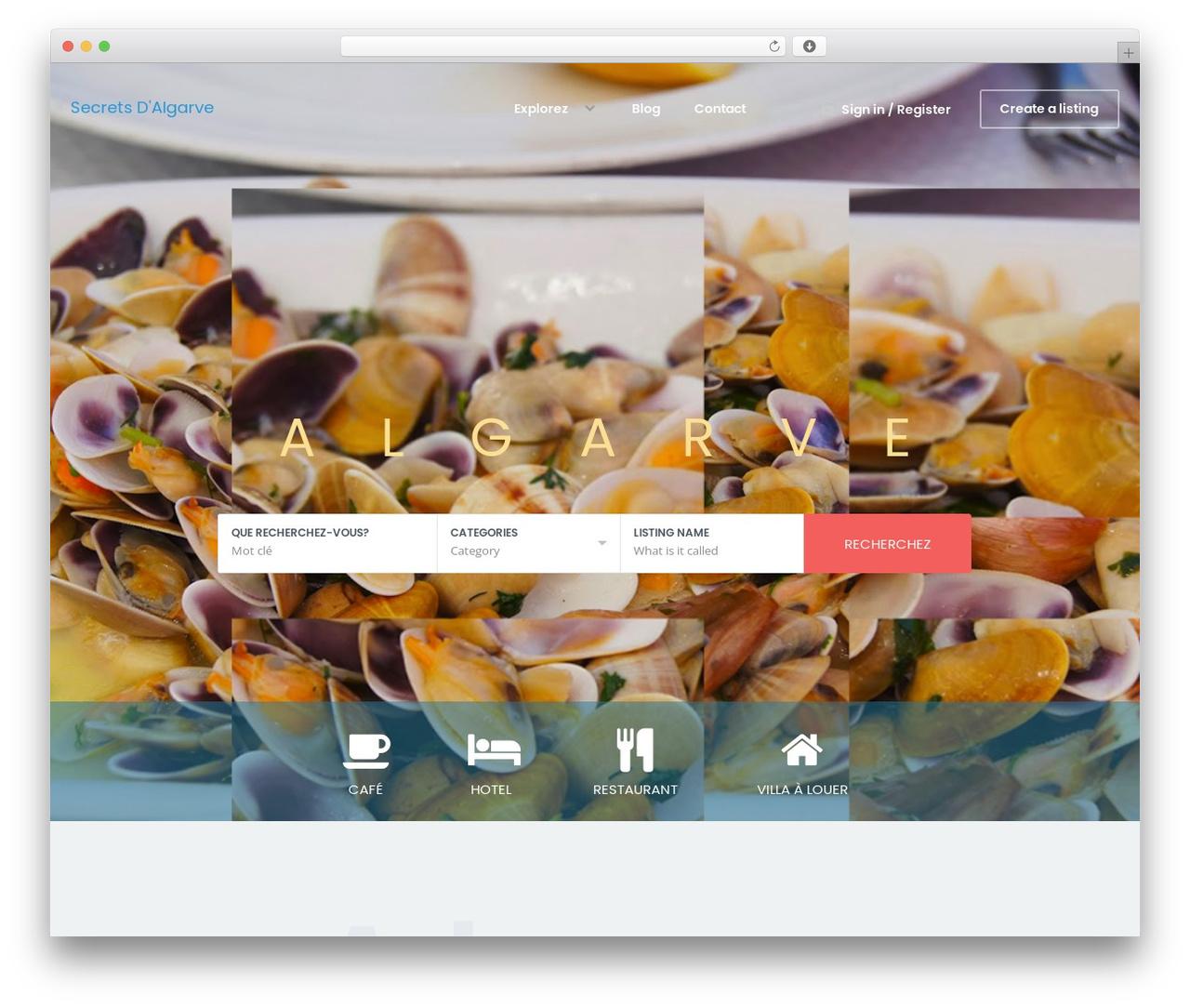 WordPress website template WhiteLab - secretsdalgarve.com
