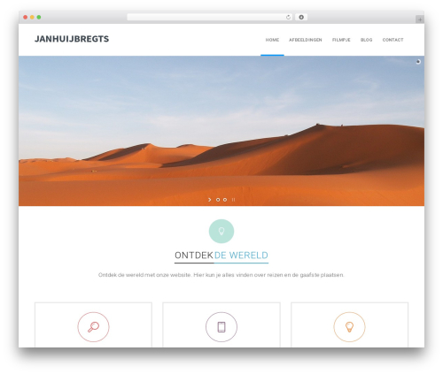 California WordPress page template - janhuijbregts.com