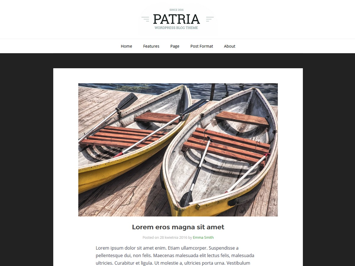 Patria WordPress template