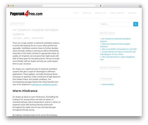 Poseidon WordPress template - pagerank4free.com