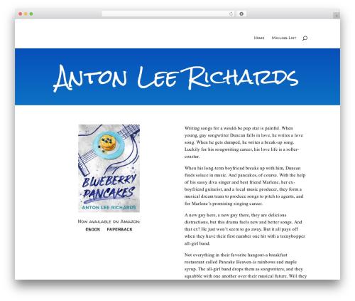 WordPress website template Divi - antonleerichards.com