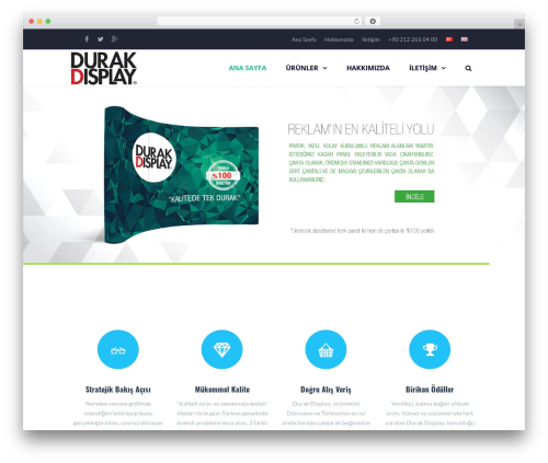 WordPress website template TheFox (shared on themelot.net) - durakdisplay.com
