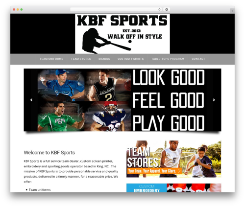 X theme WordPress - kbf-sports.com