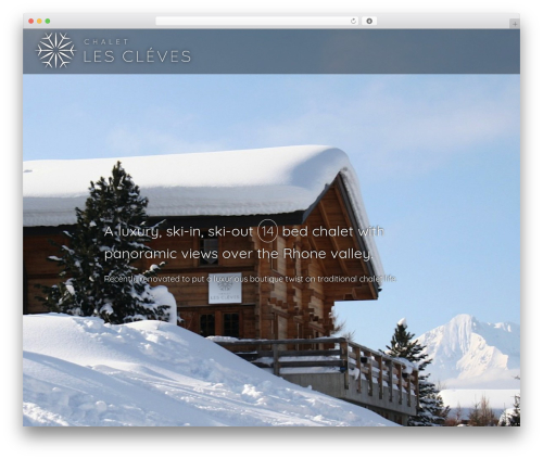 Blank Theme WordPress theme design - chaletlescleves.com