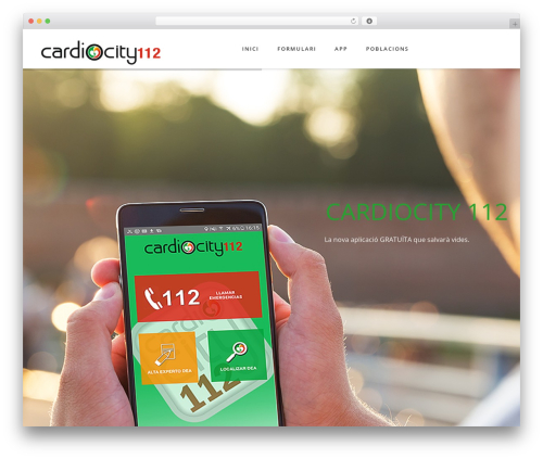 Fusion WordPress theme - cardiocity112.com