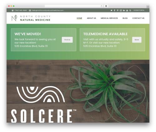 Jupiter theme WordPress - northcountynaturalmedicine.com