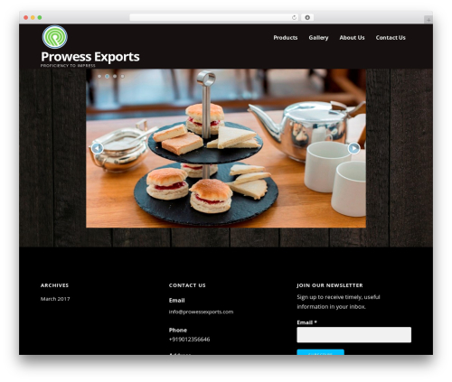 WordPress template Ascension - prowessexports.com