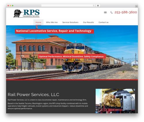 WordPress template Veda - railpowerservices.com