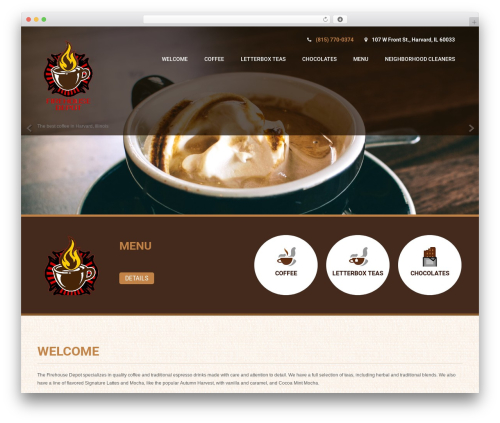 Coffee Pro WordPress theme design - firehouse-depot.com