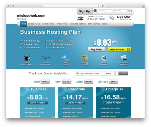 Simply Elegant WordPress theme - micloudweb.com