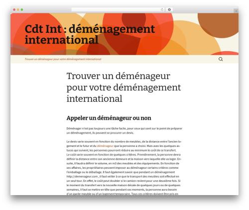 Twenty Thirteen WordPress template free - cdtintl.com