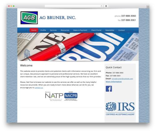 Customized business WordPress theme - agbruner.com