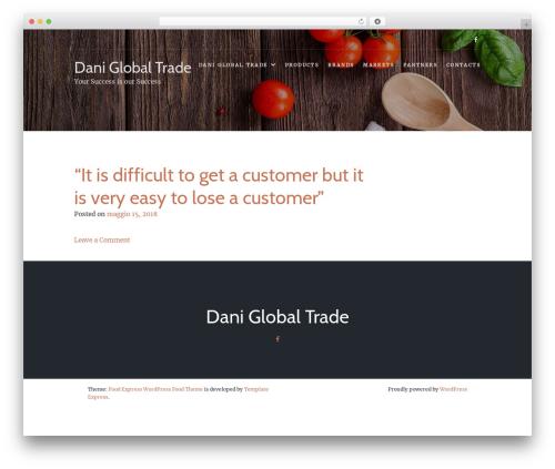 Food Express best free WordPress theme - daniglobaltrade.com