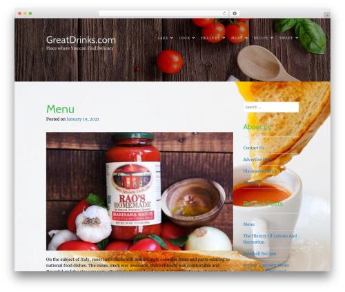 Food Express theme WordPress free - great-drinks.com