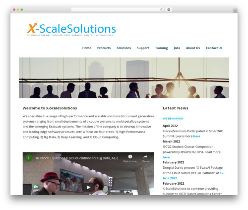 Template WordPress Ascension - x-scalesolutions.com