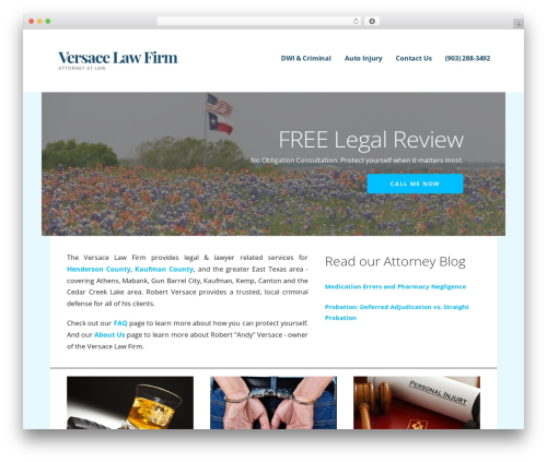 Ascension WordPress template for business - cedarcreeklawyer.com