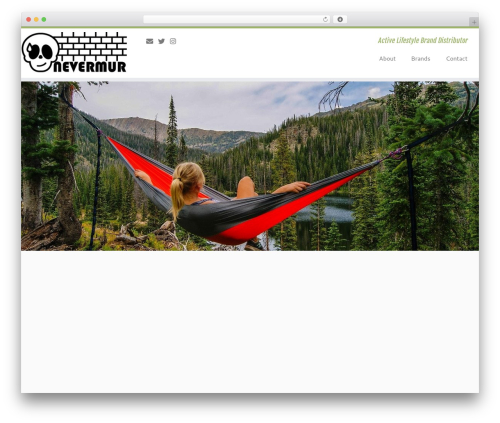 Customizr template WordPress free - nevermur.com