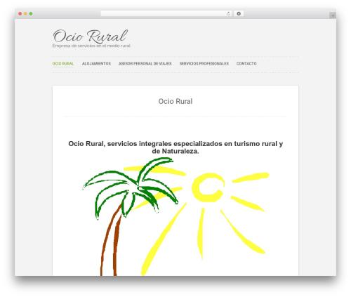 Polar Lite template WordPress free - ociorural.com