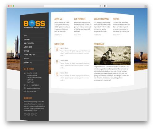 TST WordPress theme design - bharatoss.com