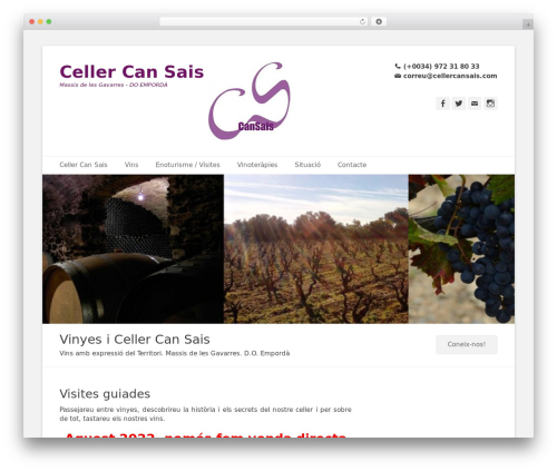 WordPress theme Catch Base Pro - cellercansais.com