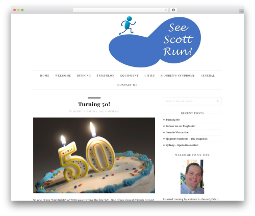 30 Day Blog Challenge WordPress blog template - see-scott-run.com