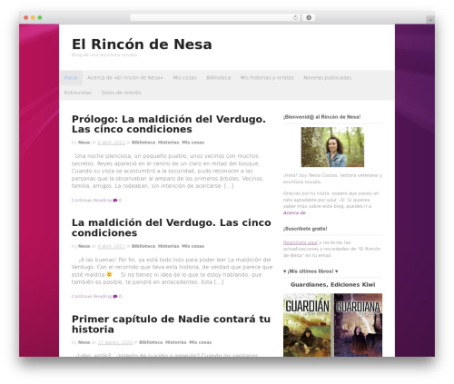Theme WordPress Canvas - rincondenesa.com