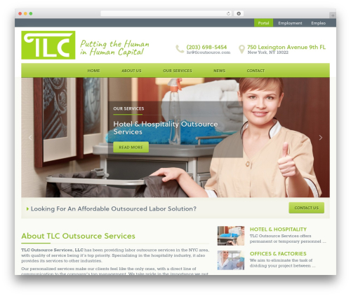 Best WordPress template TLC - tlcoutsourceservices.com