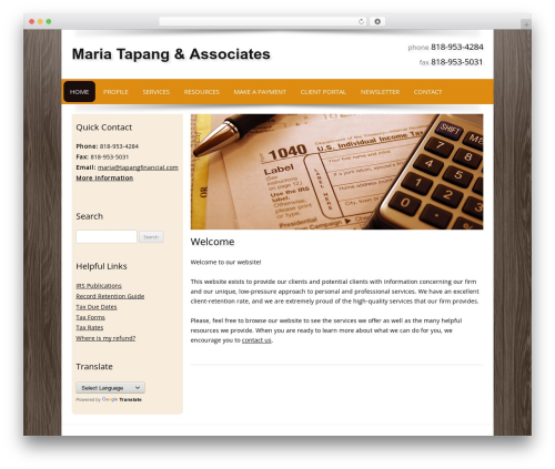 Best WordPress theme Customized - tapangfinancial.com
