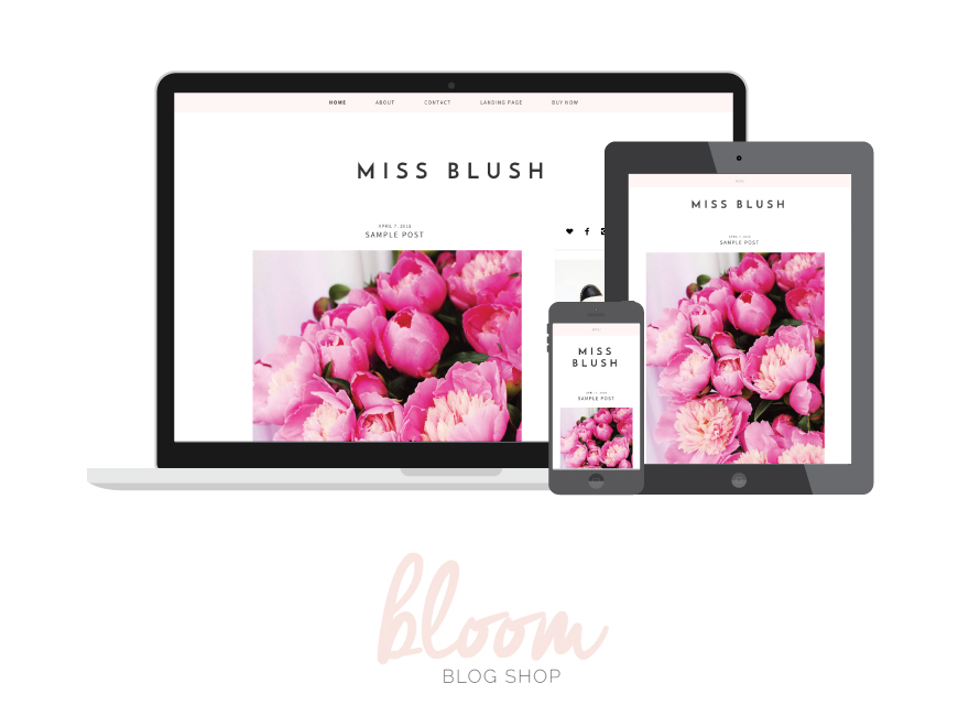 Blush WordPress template