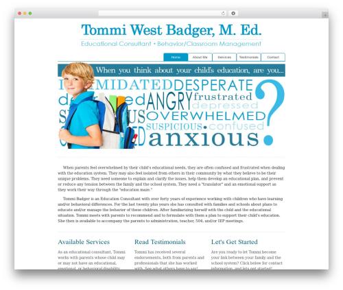 Cosmox WordPress theme - tommibadger.com