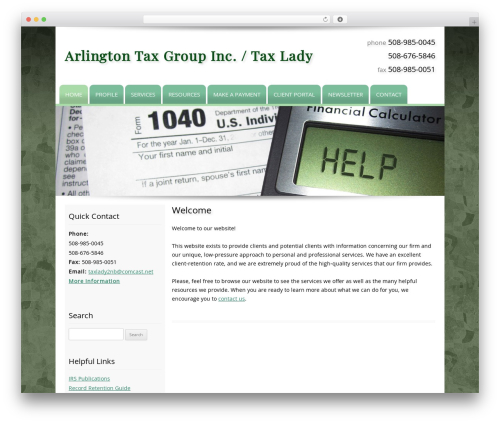 Customized WordPress template for business - teamtaxlady.com