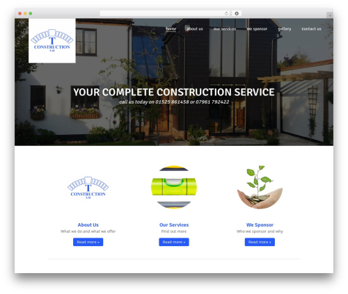 Customizr WordPress template - tconstruction.co.uk