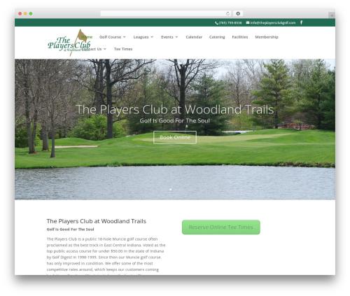 Divi theme WordPress - theplayersclubgolfcourse.com