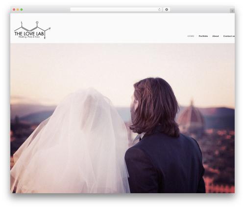 Egofolio WordPress theme design - thelovelab.it