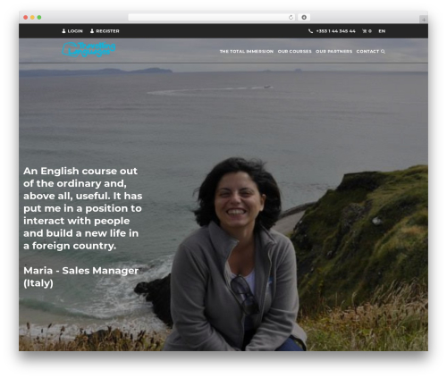 Entrada WordPress travel theme - travellinglanguages.com