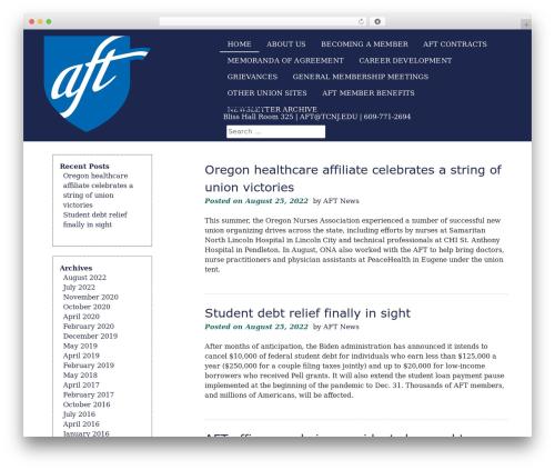 eyesite WordPress theme - tcnjft.org