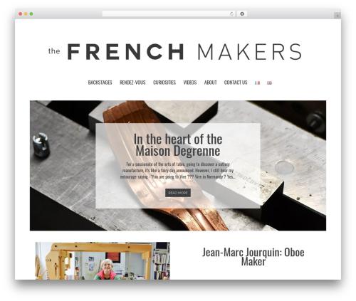 Metz WordPress theme design - thefrenchmakers.com