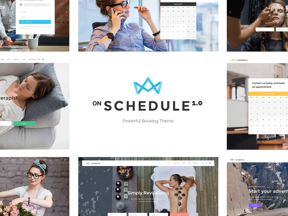 OnSchedule business WordPress theme