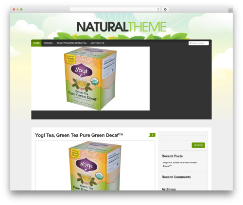 Organic Natural Theme WordPress blog theme - teadecaffeinated.com