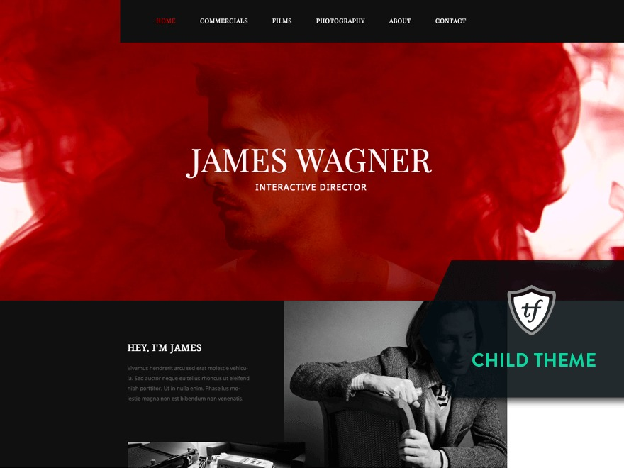 Reel Story Child WordPress website template