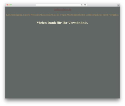 tegude WordPress theme - thalassofarm.de