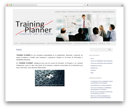 Template WordPress picolight - trainingplanner.es