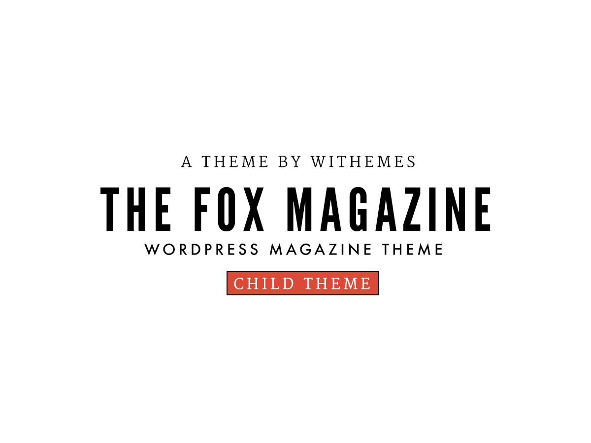 The Fox Child WordPress website template