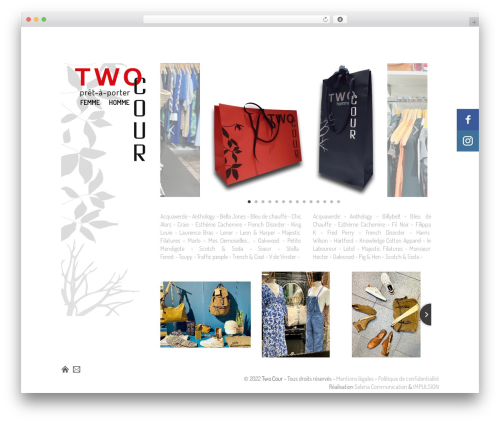 Thematic theme WordPress - twocour.fr