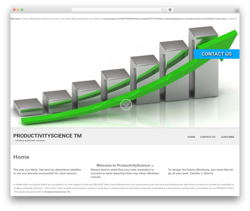 Theme WordPress SKT White - theproductivityscience.com