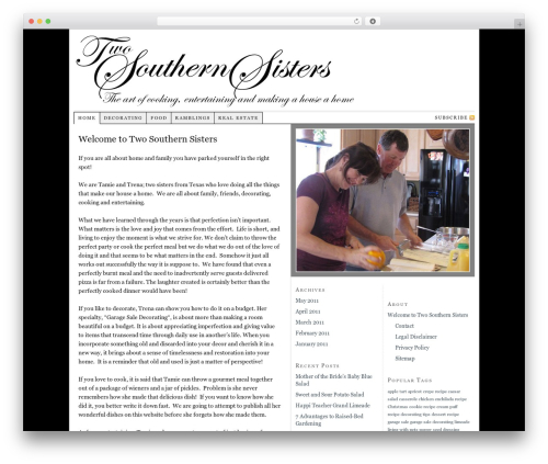 Thesis WordPress template - twosouthernsisters.com