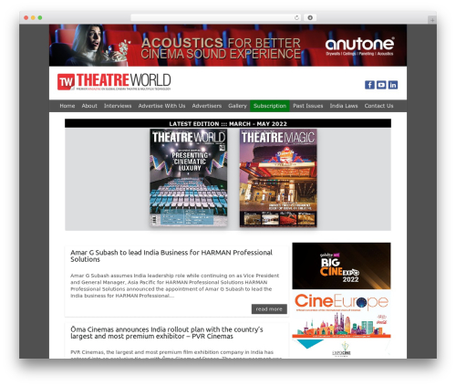 Free WordPress WP-Backgrounds Lite plugin - theatreworld.in