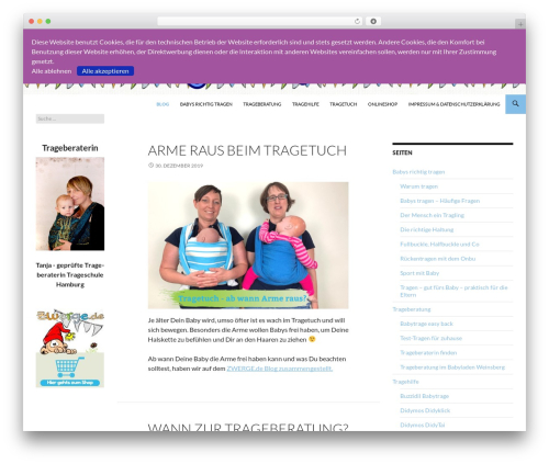 Twenty Fourteen free WordPress theme - tragehilfen.de