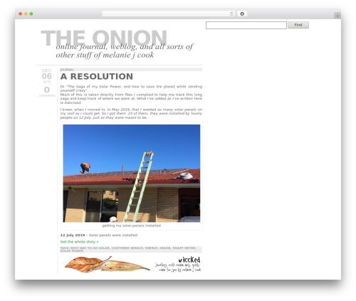 Typograph premium WordPress theme - the-onion.net