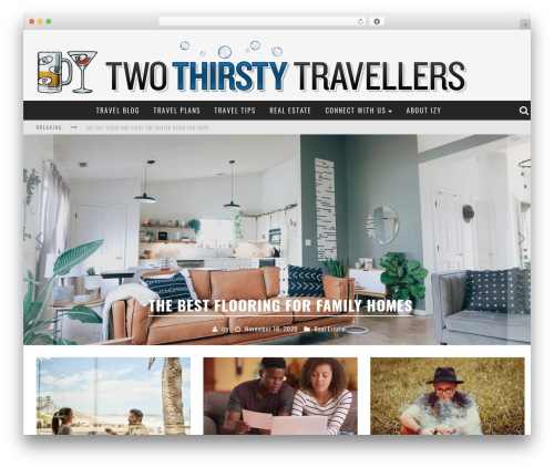 Valenti WordPress theme - two-thirsty-travellers.com